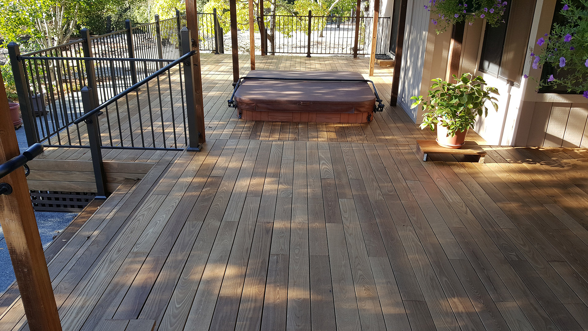 Thermally Modified Wood Spa Deck Santa Rosa Ca By Deckmaster