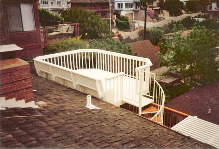 Deck With Spiral Staircase Deck Master Fine Decks