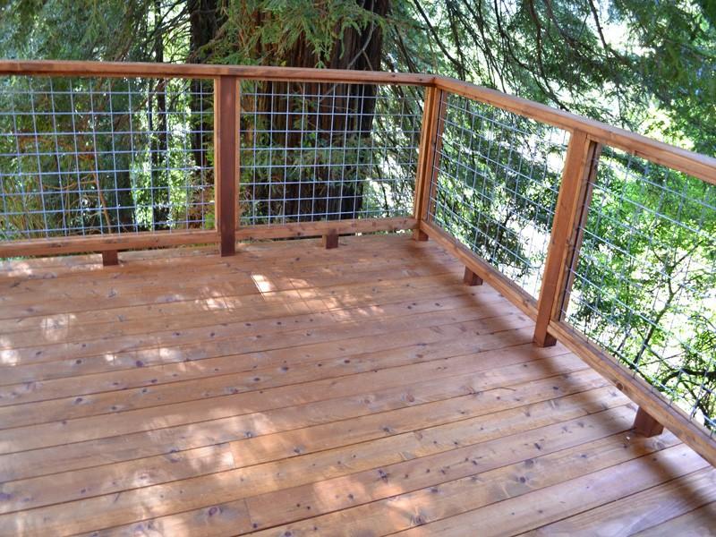 Testimonial large tri level deck guerneville 2012 deck for Redwood vs composite decking