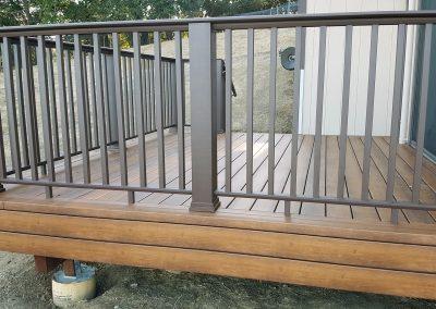 Zuri Walnut Deck with TimberTech Rail in Novato