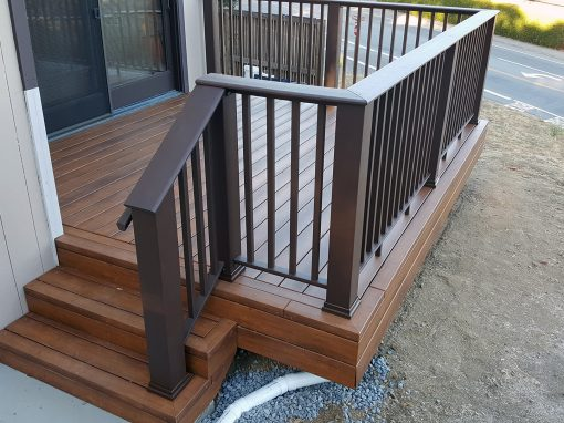 Zuri Walnut Deck with TimberTech Rail in Novato
