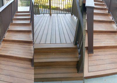 Zuri Walnut Deck with TimberTech Rail in Novato - stair details