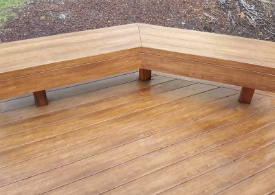 Zuri Walnut Deck in Santa Rosa - After Pics of angled bench