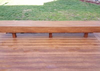 Zuri Walnut Deck in Santa Rosa - After Pics of long bench