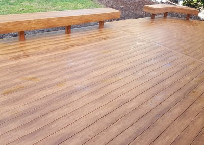 Zuri Walnut Deck in Santa Rosa - After Pics of benches
