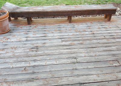Zuri Walnut Deck in Santa Rosa - Before pic of long bench