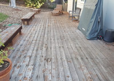 Zuri Walnut Deck in Santa Rosa - Before pic of benches