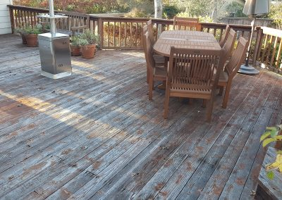 Zuri Walnut Deck in Santa Rosa - Before pic of the main deck