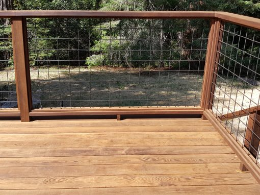 ThermalWood Snap-To-It Ash Deck in Occidental with Wild Hog Wire Rail