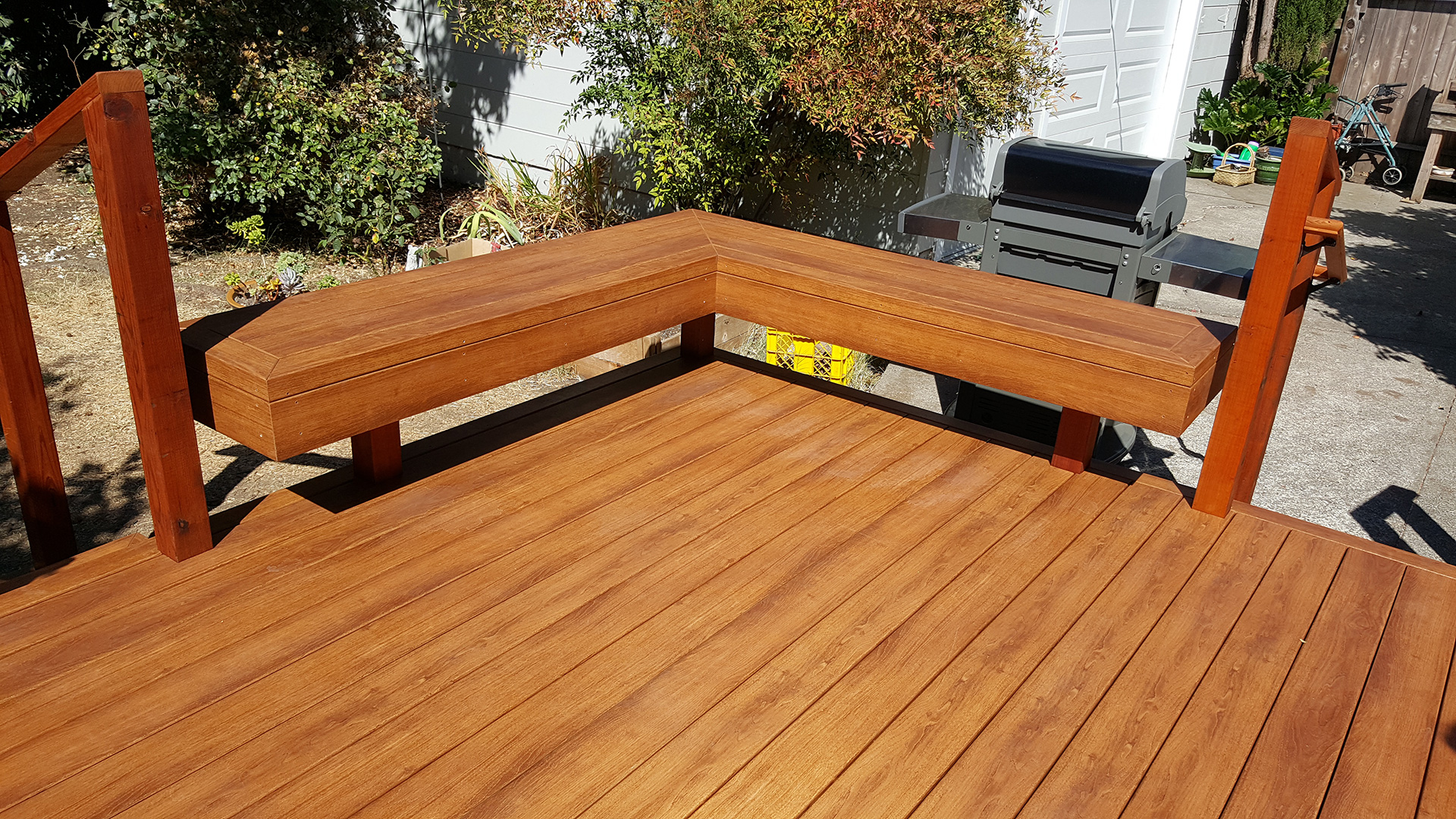 Zuri Pecan Deck with Benches in Santa Rosa 1