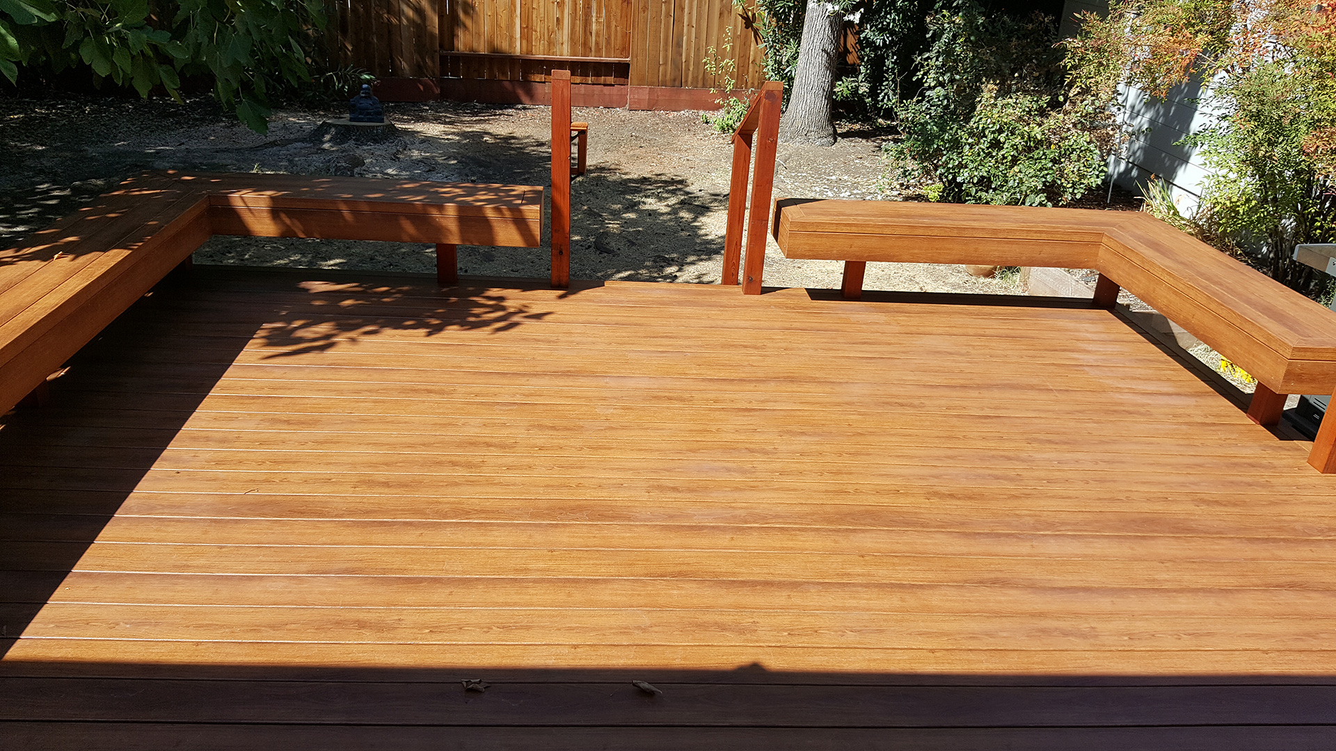 Zuri Pecan Deck with Benches in Santa Rosa