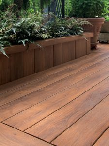 Zuri synthetic decking provides a beautiful alternative to natural wood