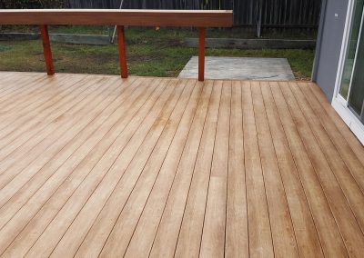 Coffey Park Deck - Zuri Chestnut with Walnut Trim